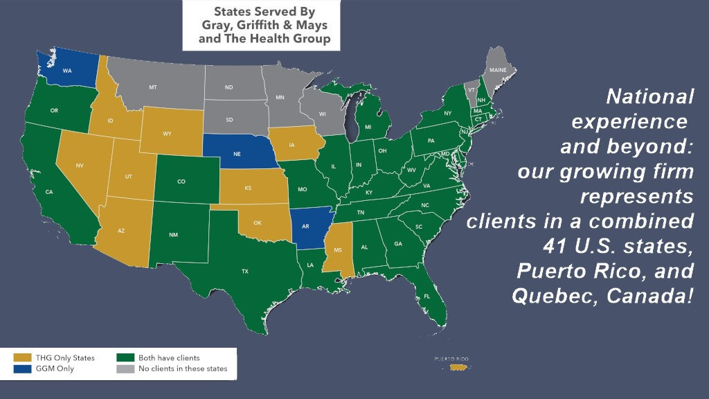 States Served by the Health Group